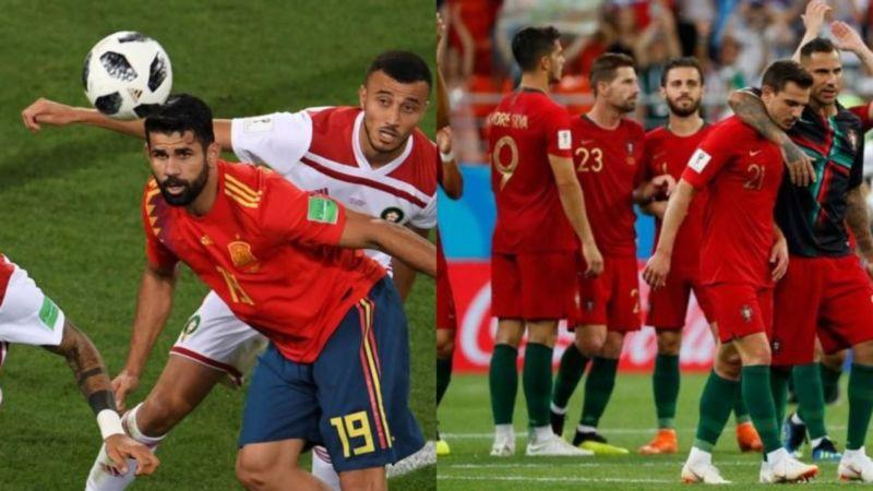 2dd600a5ae8b7 25 06 2018 23 01 em Novidades. Nas oitavas teremos Uruguai x Portugal e Espanha  x Rússia