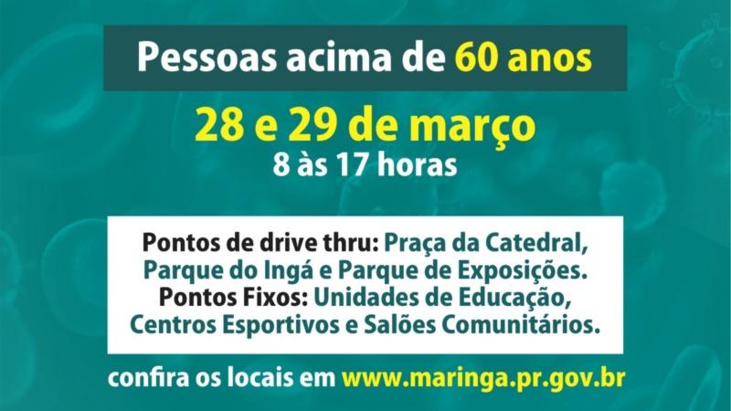 Em Maringá, campanha de vacinação contra a gripe para idosos ...