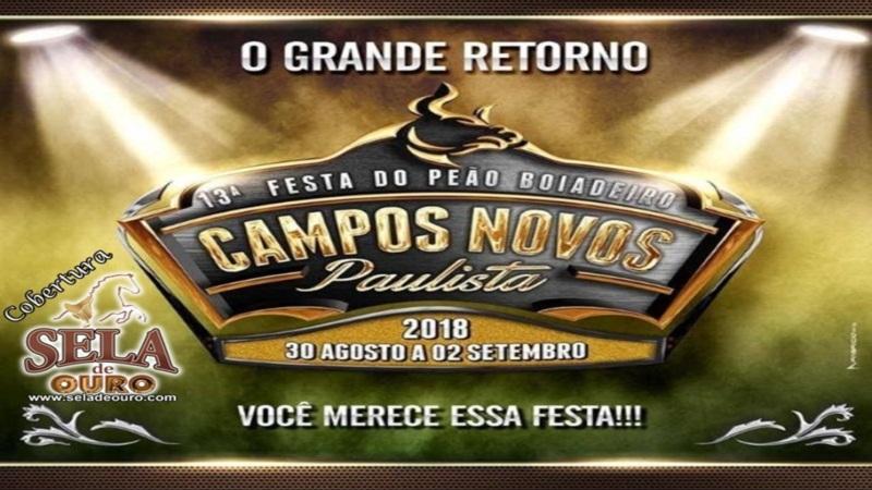 Resultado de imagem para Rodeio Festa do Peão de Campos Novos Paulista 2018